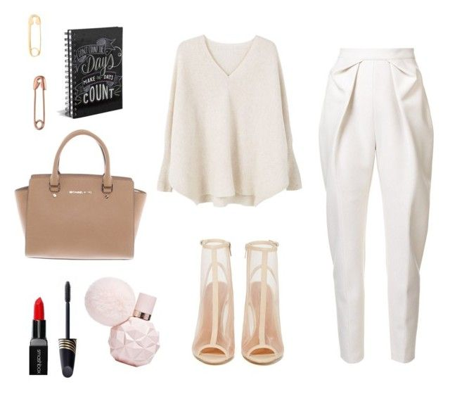"""""""Sans titre #7"""" by polyvorefashionxox ❤ liked on Polyvore featuring True Rocks, MANGO, Shoe Cult, Delpozo, Max Factor and Michael Kors"""
