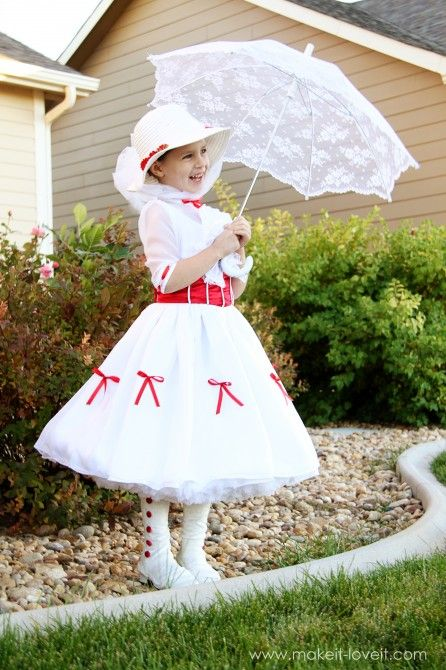 Great Mary Poppins costume with excellent instructions via http://www.makeit-loveit.com