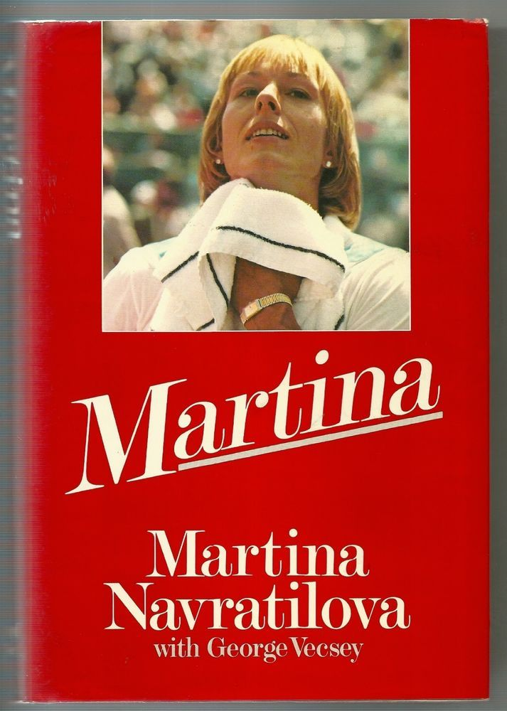 sold martina navratilova pen signed 1985 book autograph tennis auto