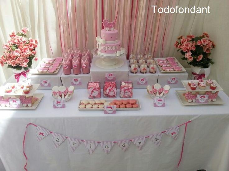 Os dejamos una nueva mesa dulce que hemos preparado con - Como hacer centros de mesa con dulces para bautizo ...