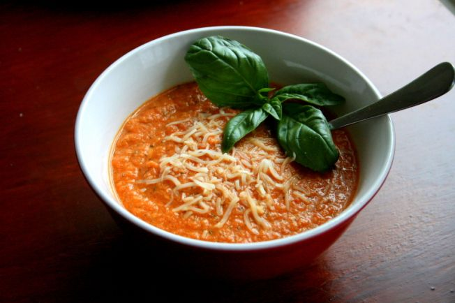Roasted tomato and eggplant soup | Soups and Stews | Pinterest