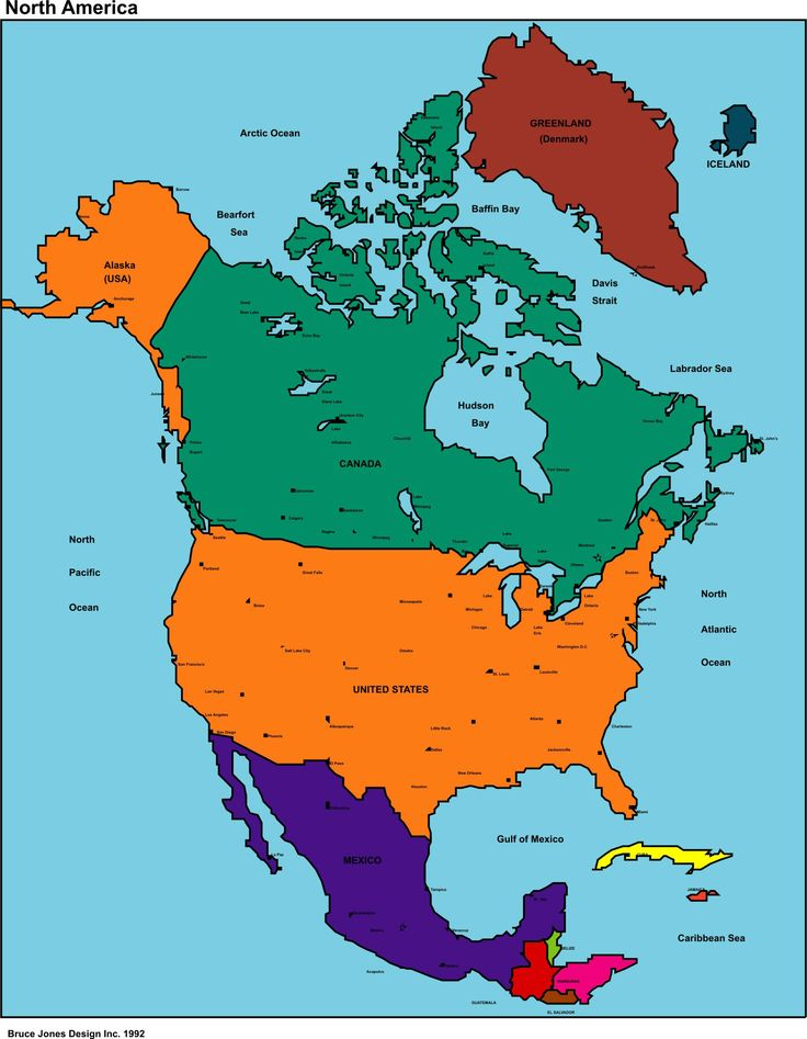 The Best Map Of North America Ideas On Pinterest Map America - Map of southern canada and northern us