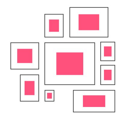 Beim Bilder aufhängen bleibt die Anordnung der Bilder letztlich immer ein Stück weit der eigenen Kreativität und dem persönlichen Geschmack überlassen. Dennoch gibt es einige Regeln, die das Bilder aufhängen erleichtern können. Allgemein kann man drei Systeme zur Bildinszenierung unterscheiden.