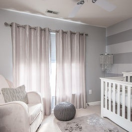 Nursery decor - soft grey/purple and white