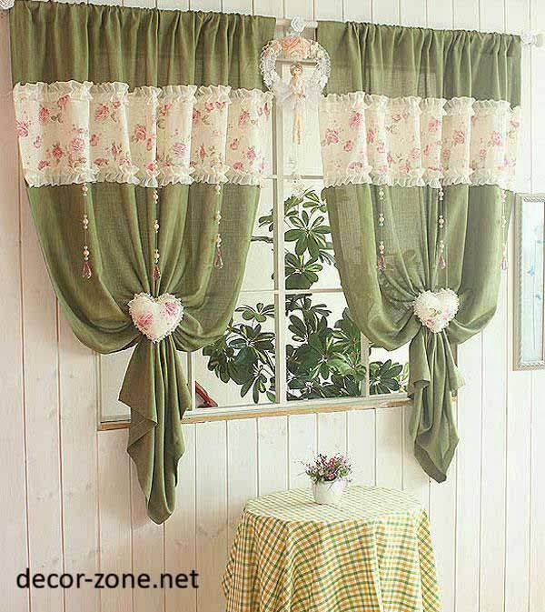 creative kitchen curtain ideas , green curtains