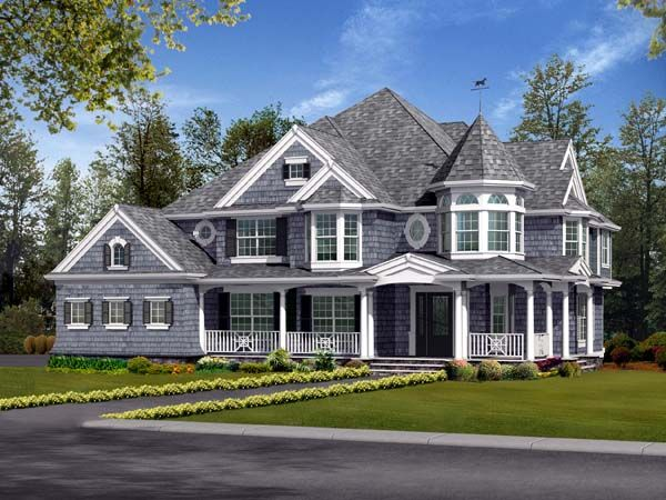 House Plan 87587 | Farmhouse  Victorian    Plan with 4460 Sq. Ft., 5 Bedrooms, 4 Bathrooms, 3 Car Garage