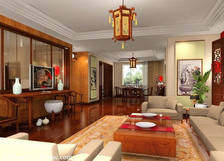 Chinese Living Room Design. Asian Living Room Chinese, Japanese ...