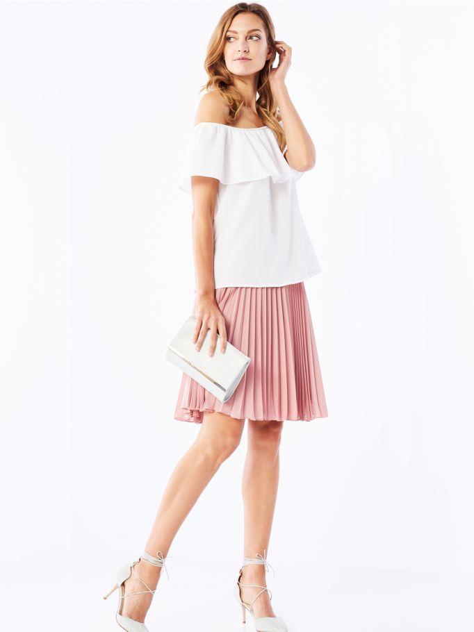Плиссированная юбка из жоржета, MOHITO