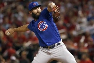 Chicago Cubs starting pitcher Jake Arrieta will face the Nationals in Game 4 of an NLDS on Tuesday. (AP Photo | Jeff Roberson)