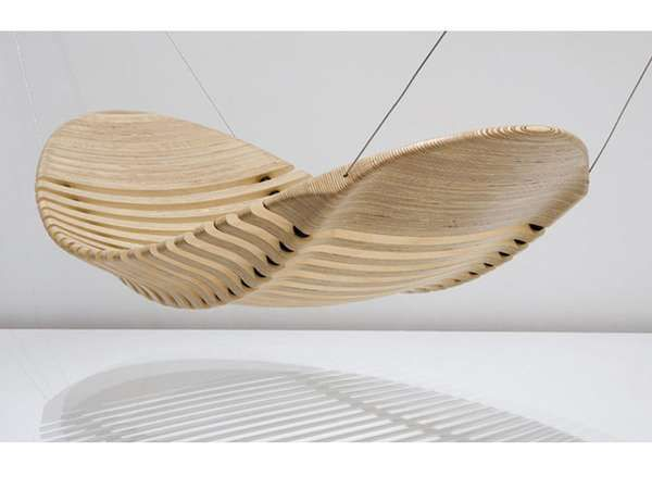 Wooden Hammock by Adam Cornish / #design #hammock #wood