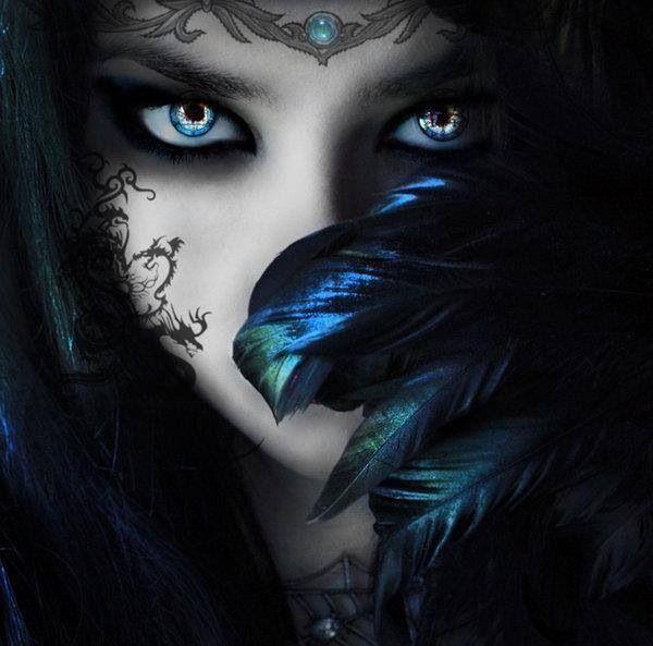 dark fantasy ladies and umbrellas   Beautiful...!   Wiccan   Pinterest