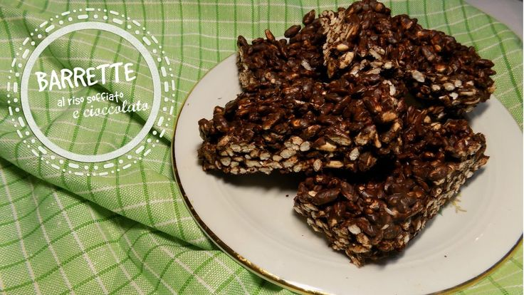 Barrette al riso soffiato e cioccolato