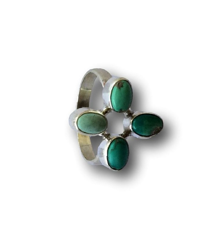 Jewelry With Soul New Balinese Design Amazonite 925 Sterling Silver Ring Size Q