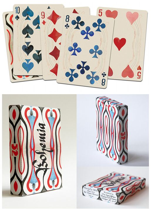 Bohemian playing cards.