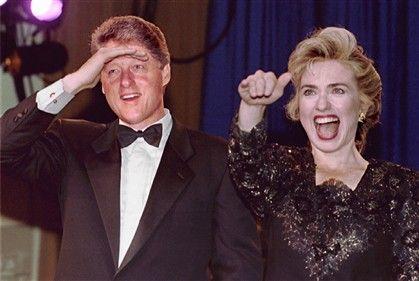 Bill e Hillary Clinton em 1993 no dia da tomada de posse da Presidência dos Estados Unidos