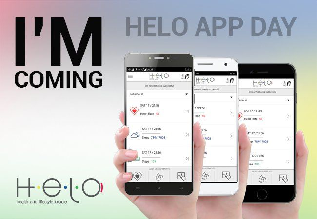 The day is finally almost here: HELO is being delivered in the whole world and we are ready with the HELO App, the app support for our new device. The D day is the HELO App Day, Friday June 24, during which you will be able to download the free app on your Android and iOS* smartphones. An app that together with HELO, a new and innovative device, will change over time your approach to your health and your life style, actively helping you to check your vital signs and improve your habits.