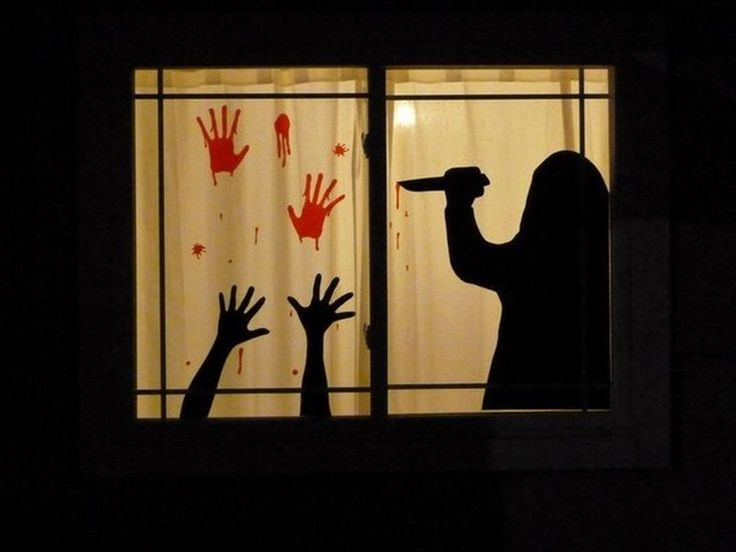 76 Scary but Creative DIY Halloween Window Decorations Ideas You Should Try