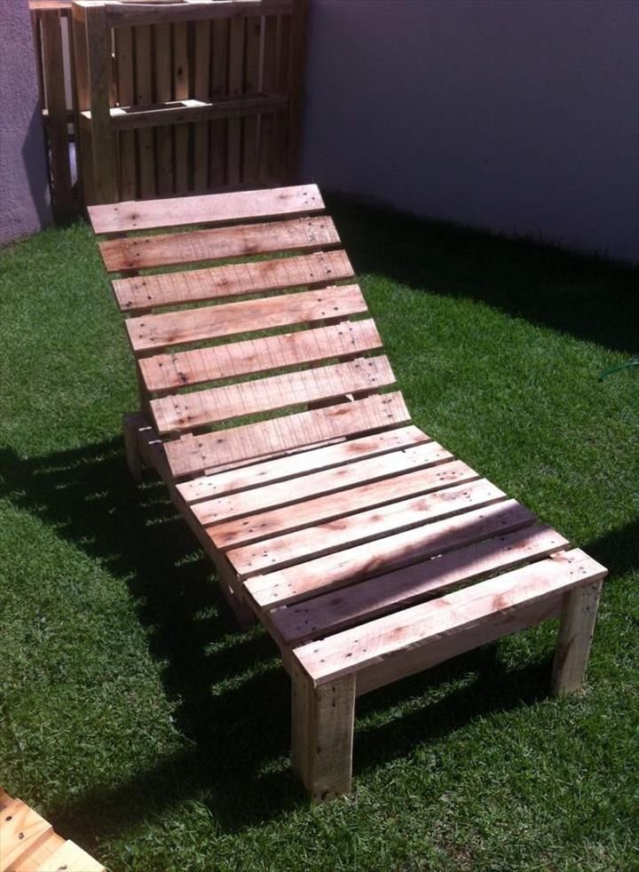 how to make a lounge chair out of pallets