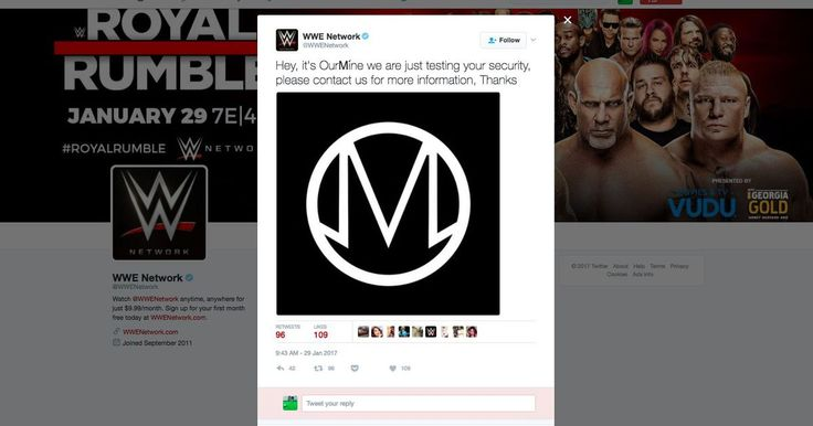 OurMine just hacked a bunch of WWE accounts http://rite.ly/jv3o