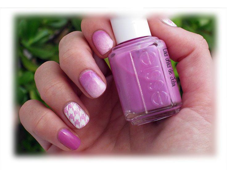 Las uñas de Julia: Nails Art pata de gallo & degradado / Placas de es...