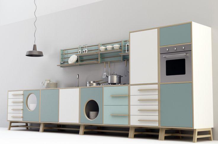 Cucina free standing_ happy Kitchen by Joe Velluto for DESIGNMOOD