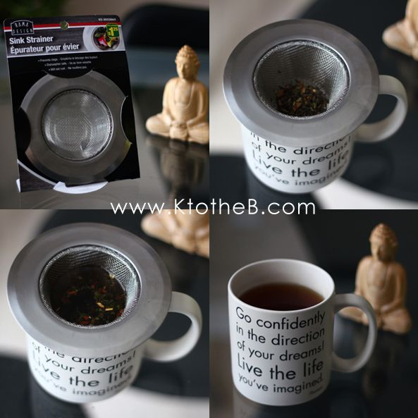 Make a Loose Leaf Tea Infuser out of a sink strainer!!