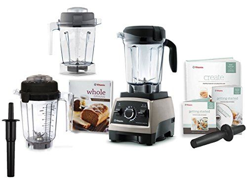 Vitamix TurboBlend Two Speed Blender Red with Bonus Set of 20 oz Containers