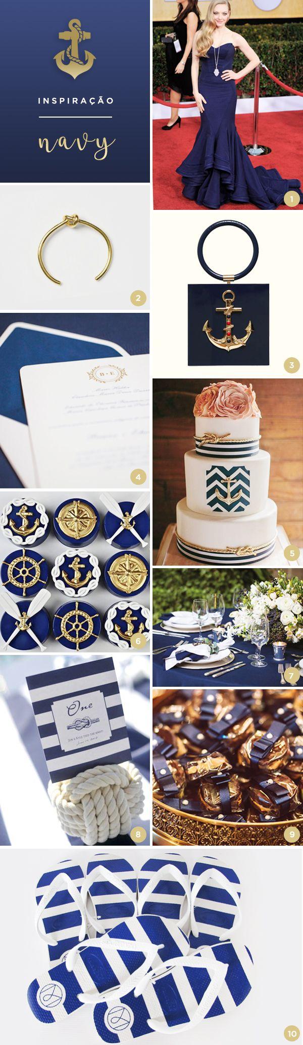 10 ideias para uma festa de 15 anos com tema navy - Constance Zahn | 15 anos