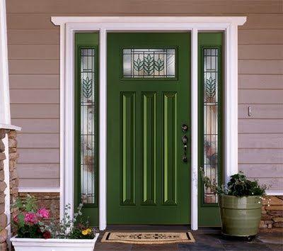 med green front door home ideas pinterest federn. Black Bedroom Furniture Sets. Home Design Ideas