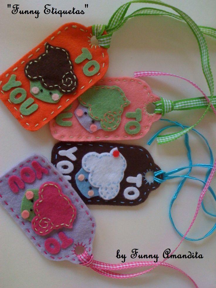 etiquetas artesanais para presentes by funny amandita