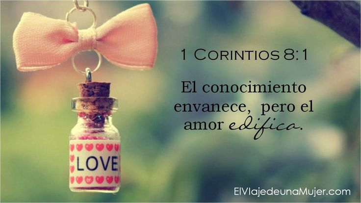 1 Corintios. 8:1 #Versiculos - #Bible - #Dios #Biblia