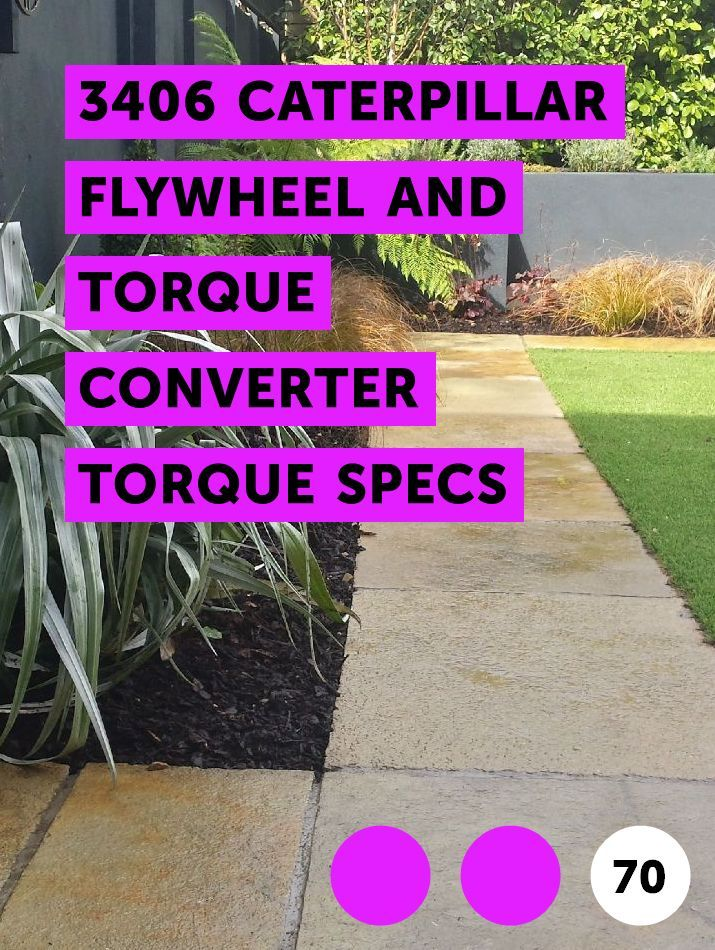 Learn 3406 Caterpillar Flywheel and Torque Converter