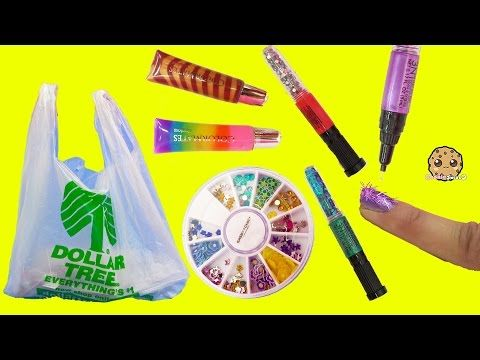 Dollar Tree Store Rainbow of Colors Nail Polish Haul + Swatch Video with Glitter - YouTube