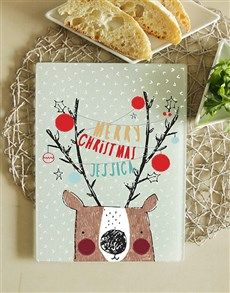 gifts: Personalised Christmas Glass Chopping Board!