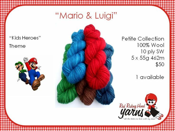 Mario and Luigi - Kids Heroes | Red Riding Hood Yarns