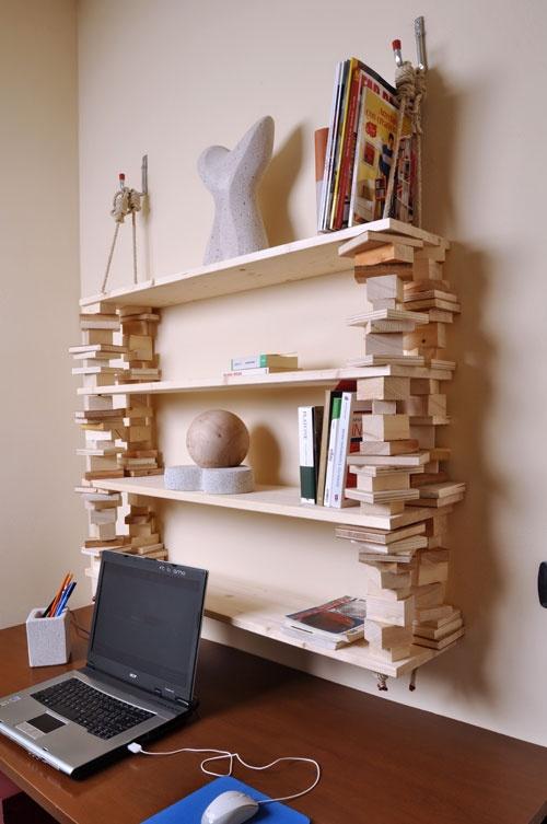 Libreria appesa costruzioni tecniche fai da te brico for Pallet arredamento