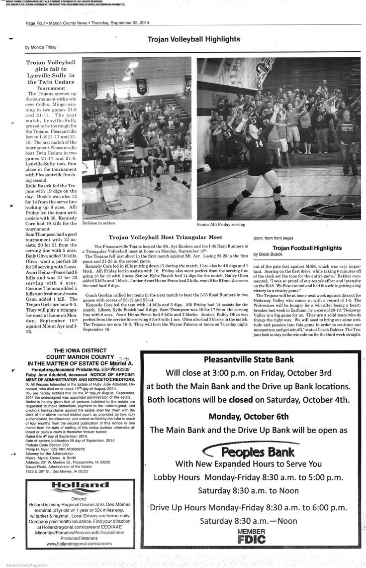 Marion County News  September 25, 2014 Page 4