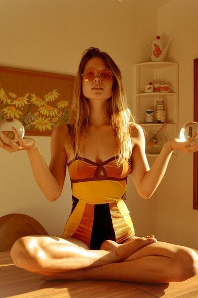 Solstice Intimates Backbite Exclusive Sunburst Velvet Bodysuit // /backbitela/