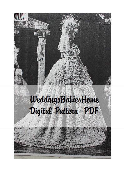 Half price Doll Bridal Gown 11 1/2 in. by WeddingsBabiesHome
