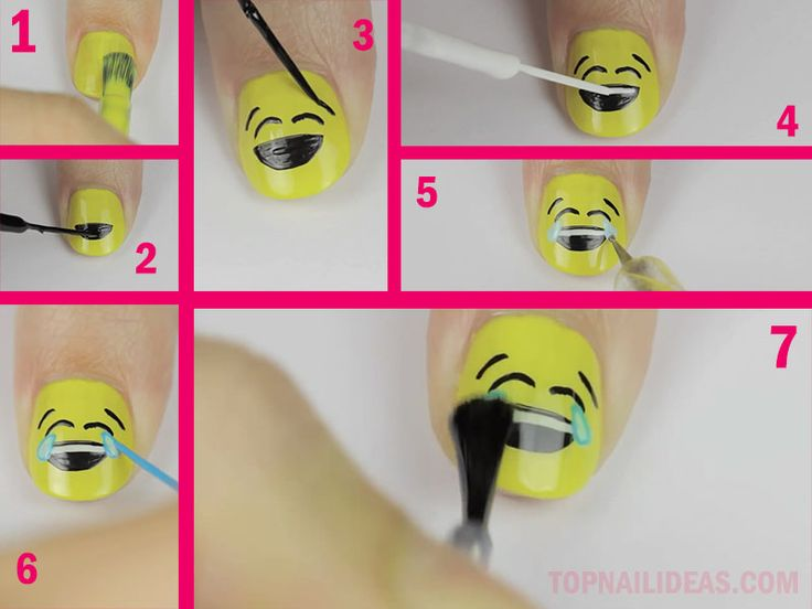 26 best emoji nail art images on Pinterest | Emoji nails, Nail art ...