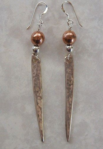 HAMMERED TINES Silver Fork Tine Earrings Recycled Silverware by LTCreatesJewelry, $18.00
