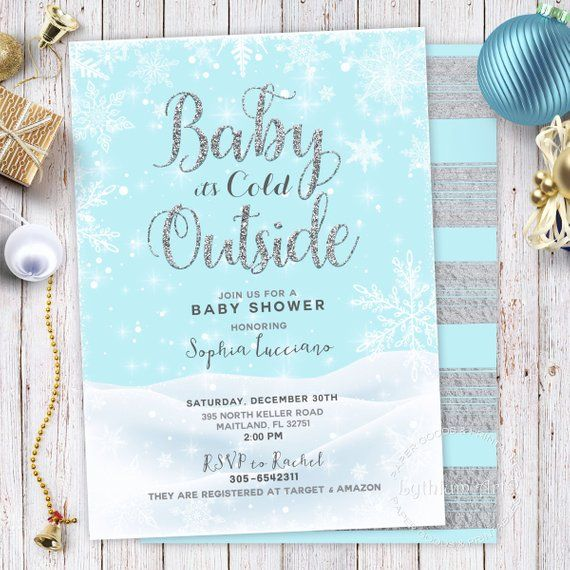 Baby it & # 39; s Cold Outside Baby Shower Invitation, Winter Baby Shower Invitation …