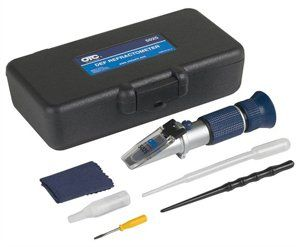 OTC 5025 Diesel Exhaust Fluid (DEF) Refractometer by OTC. $66.00. The Refractometer is a portable, precision, optical instrument used for measuring the Diesel Exhaust Fluid (DEF) concentration. When a liquid sample is placed on the prism, the light passing through it is bent. The more concentrated the liquid, the more the light will bend. The Refractometer contains a reticle, or scale, that is enlarged through the eyepiece to measure this light. The values on the s...