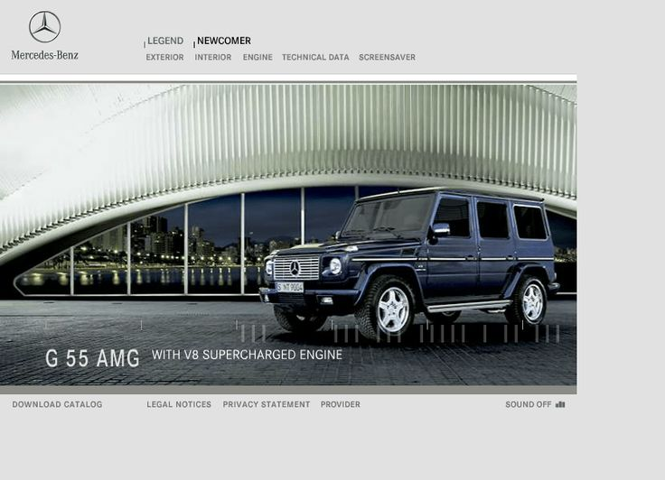 Mercedes-Benz website in 2004