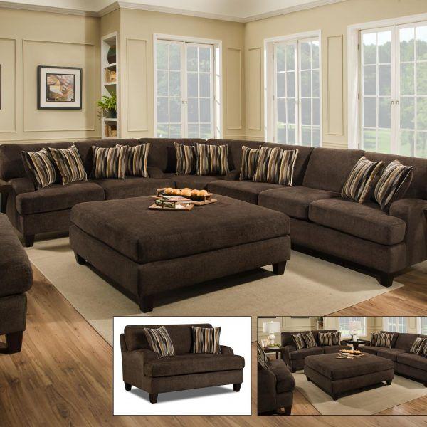 Maverick Espresso Sectional Furniture & More Superstore ...