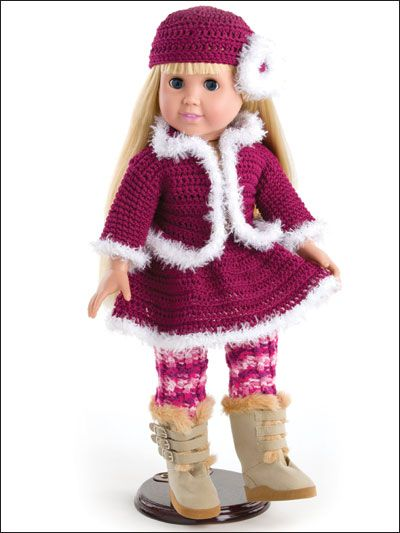 The 567 Best Crocheted Doll Clothes 18 Inch Images On Pinterest