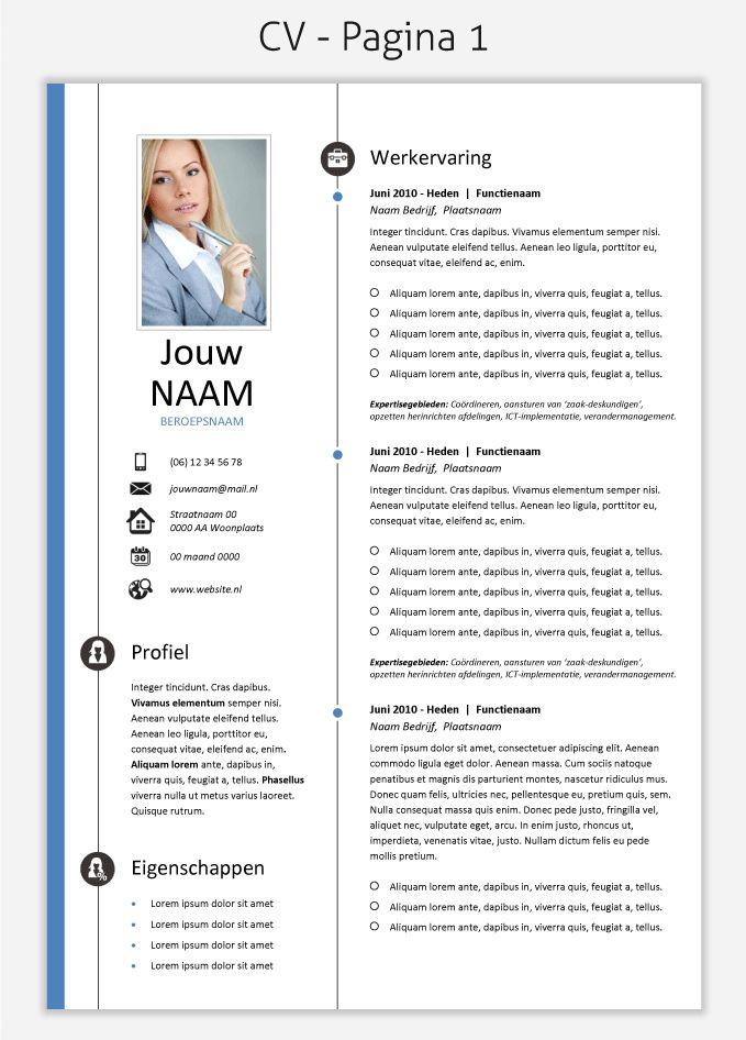 CV template 260 om te downloaden