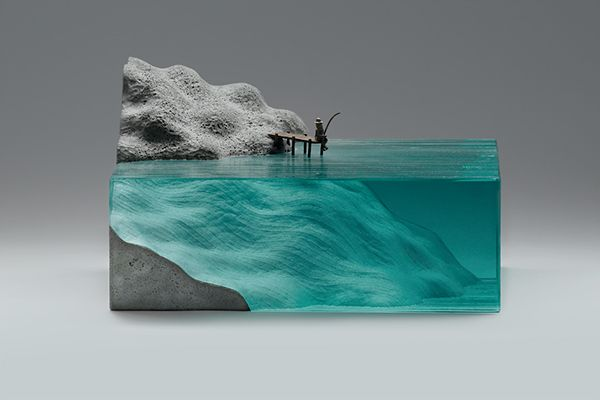 """""""Detachment"""" - An awesome glass and concrete sculpture by Ben Young"""