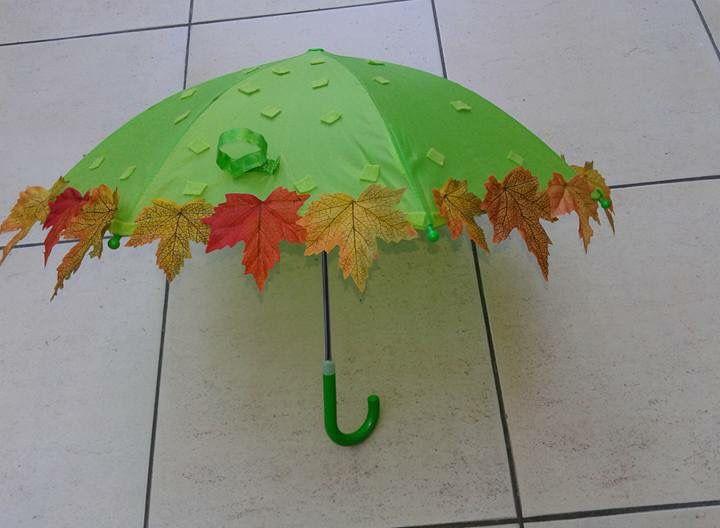 Paraplu spel thema herfst