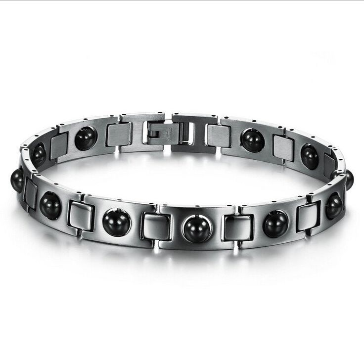 New Fashion Italy Style Love Bracelet 316L Stainless Steel Bracelet Magnetic Energy with Health care Stone for Men - V-Shop